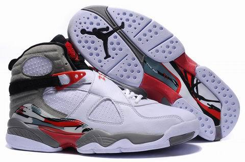 Air Jordan 8 Retro Shoes Red/Light gray